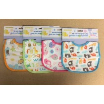 Tootsie Baby Bib with Waterproof Lining ~ 4 assorted