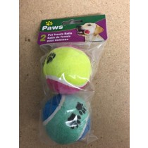 "Printed Pet Tennis Balls - 2.5"" ~ 2 per pack"