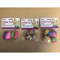 Catnip Toys ~ 3 assorted