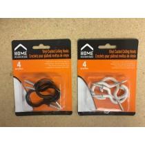 Vinyl Coated Ceililng Hooks ~ 4 per pack
