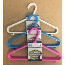 Plastic Kid's Clothes Hangers ~ 6 per pack