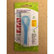 Easy Thru Dental Floss Threader ~ 20 per pack