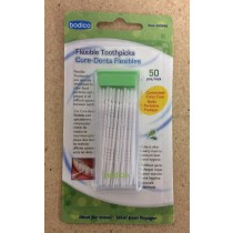 Flexible Plastic Toothpicks in Travel Case ~ 50 per pack