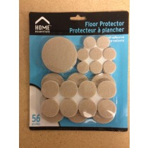 Felt Floor Protector Pads - Assorted Sizes ~ 56 per pack