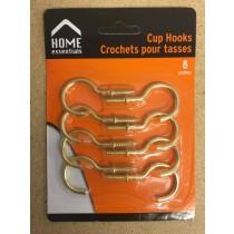 """Metal Cup Hooks 2"""" ~ 8 per pack"""