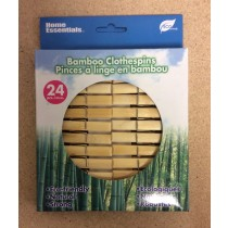 Bamboo Clothes Pins ~ 24 per pack