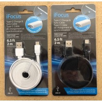 "iFocus Type ""C"" USB Charge & Sync Cable ~ 6.5'"