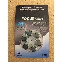 Hearing Aid Batteries #675 ~ 6 per pack