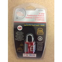 Luggage / Travel 3-Dial Combination Padlock~ TSA Approved