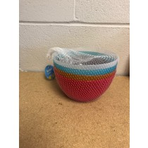Plastic Bowls ~ Set of 4 in Mesh Bag