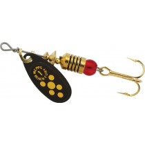Mepps Black Fury Lures ~ Yellow Dots