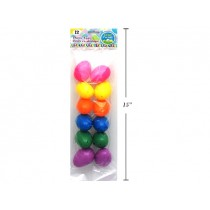 "Easter Fillable Eggs - 2.5"" Neon ~ 12 per pack"