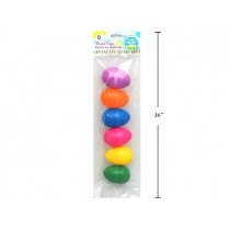 "Easter Fillable Eggs - 3.25"" Neon ~ 6 per pack"