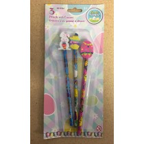 Easter Pencils w/Erasers ~3 per pack