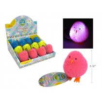 Easter Neon LED Puffer Chick ~ 12 per display