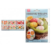 Easter Decorative Egg Shrink Wraps ~ 12 per pack