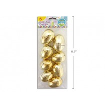 "Easter Fillable Eggs - 2.5"" Gold ~ 8 per pack"