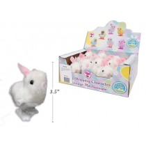 Easter Wind-Up Hopping White Bunny ~ 12 per display