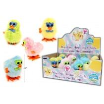 Easter Wind-Up Hopping Chicks with Glasses ~ 12 per display