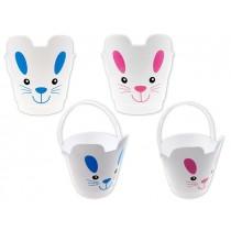 """Easter Die-cut Plastic Bunny Egg Hunt Bucket ~ 7.25"""""""