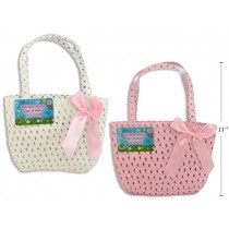 """Easter Rattan Purse with Bow ~ 8.5"""""""