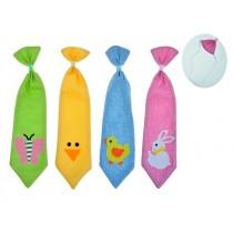 Easter Burlap Necktie with Felt Icon