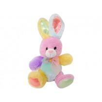 "Easter Plush Multi-Colored Bunny ~ 9"""