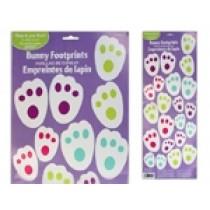 Easter Bunny Footprints Floor Clings