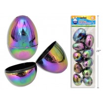 """Easter Fillable Eggs - 2.5"""" Galaxy Iridescent ~ 10 per pack"""