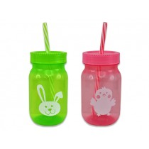 Easter Tinted Decal Sipper Cup with Straw ~ 16oz