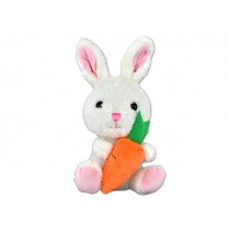 Easter Plush Sitting Bunny with Carrot ~ 10""