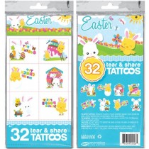Easter Tear & Share Tattoos ~ 32 per pack