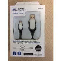 Heavy Duty USB to Lightening Cable ~ 5'