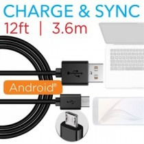 Micro USB Charging and Data Transfer Cable ~ 12' (3.6m)