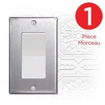 Decorative Wall Plate - Stainless Steel ~ 1 per pack