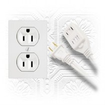 Indoor Extension Cord - Triple Outlet ~ 10' / 3.04M
