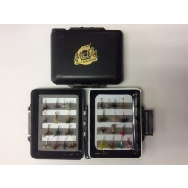 Mr Fly Waterproof & Floatable Fly Box w/ 28 Trout Dry Flies
