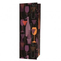 Bottle Gift Bags ~ Wine & Grapes