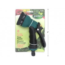 8-Function Hose Spray Nozzle with Rubber Grip