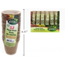 "Round Paper Peat Pots - 2.25"" ~ 12 per pack"