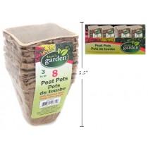 "Square Paper Peat Pots - 3"" ~ 8 per pack"