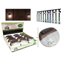 "Solar Globe Fence LIghts - 4.25"" x 1.5"" ~ 12 per display"
