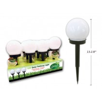 "Solar LED Globe Pathway Light Stakes - 13-7/8"" ~ 16 per display"