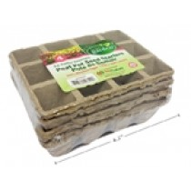 """12 Cell Seed Starter Paper Peat Pot - 6.25"""" x 4.25"""" x 1.75"""" ~ 4 per pack"""