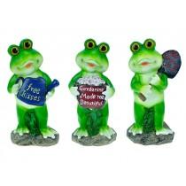 """Polyresin Garden Frog ~ 8""""H"""
