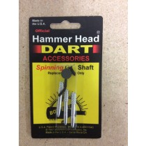 Hammerhead Darts GH Shaft ~ Spinners Silver