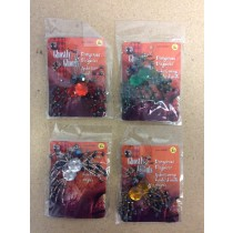 "Halloween Spider Earrings ~ 4""H"