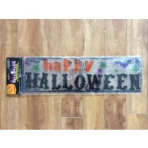 Happy Halloween Gel Cling Banner