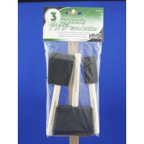 Bennett High Density Foam Brush Set ~ 3 per pack