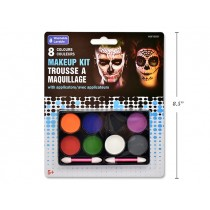 Halloween Make-Up Tray with Applicators ~ 8 colors